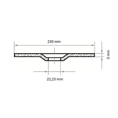 25 Stk | Trennscheibe T42 für Stein 230x3 mm gekröpft | für Winkelschleifer | C24S-BF Abb. Ähnlich