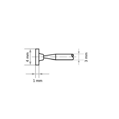 20 Stk | Schleifstift D4 Zylinderform für Stahl/Stahlguss 4x1 mm Schaft 3 mm | Edelkorund Korn 100 Abb. Ähnlich