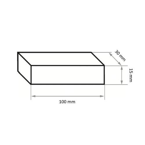 5 Stk | Abziehstein RU 2 | 100x30x15 mm Siliciumcarbid Korn 60 Abb. Ähnlich