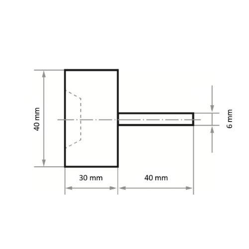 10 Stk | Schleiffächer Topfform SFT 40x30 mm Korund Korn 60 Abb. Ähnlich