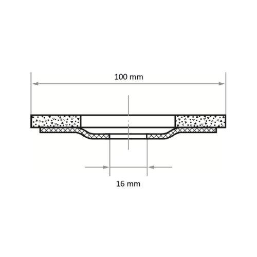 10 Stk | Fächerschleifscheibe SLTO universal Ø 100 mm Zirkonkorund Korn 40 |gerade Abb. Ähnlich