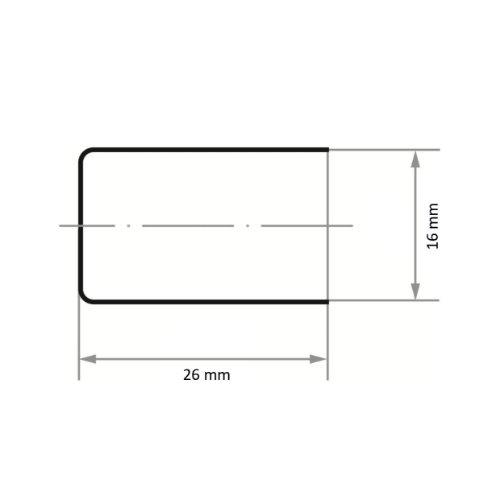 100 Stk | Schleifkappe SKZYS Zylinderform universal 16x26 mm Spezialkorund Korn 320 Abb. Ähnlich