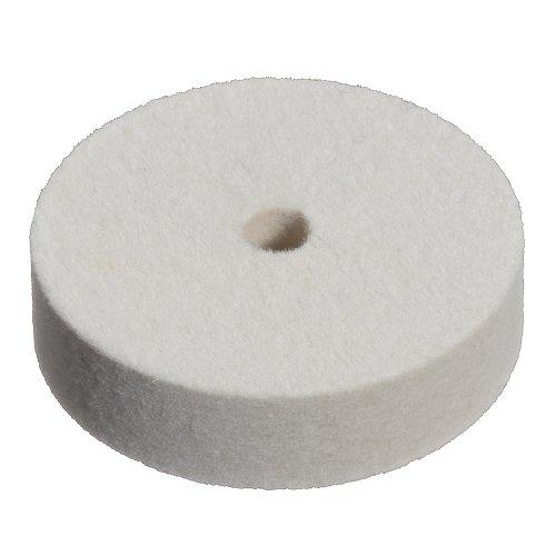 10 Stk   Polierscheibe P3S1 40x10 mm Bohrung 6 mm Filz für Polierpaste Produktbild
