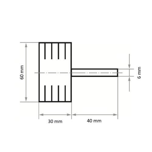 10 Stk | Fächerschleifer SFB universal 60x30 mm Schaft 6 mm Korund Korn 120 Abb. Ähnlich