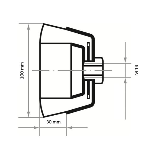 1 Stk   Topfbürste BTSW universal 100x30 mm für Winkelschleifer gewellt Abb. Ähnlich