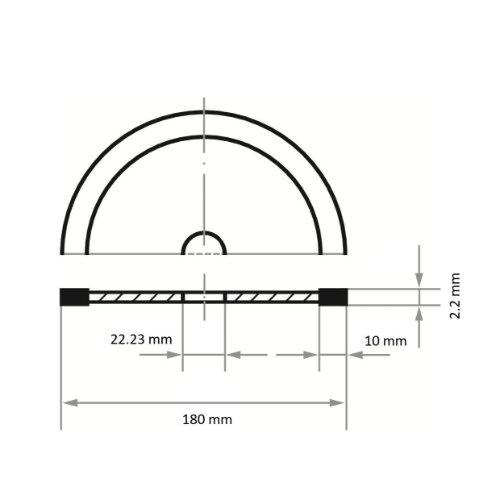 1 Stk | Diamanttrennscheibe TURBO S10 für Beton/ Baumaterial Ø 180 mm für Winkelschleifer Abb. Ähnlich