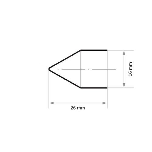 100 Stk | Schleifkappe SKWKS Walzenkegelform universal 16x26 mm Spezialkorund Korn 60 Abb. Ähnlich