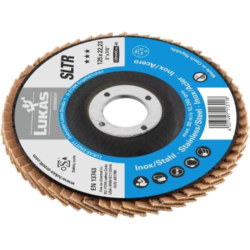10 Stk | Fächerschleifscheibe SLTR universal Ø 178 mm Ceramic Korn 40 | schräg Produktbild