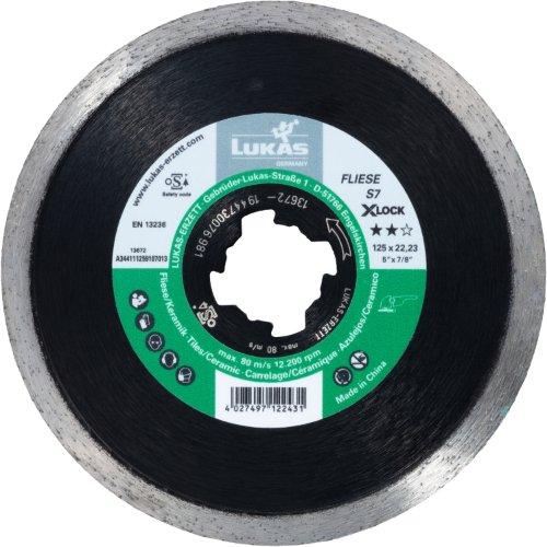 10 Stk | Diamanttrennscheibe FLIESE S7 für Stein/Fliesen Ø 125 mm für X-LOCK Winkelschleifer Artikelhauptbild