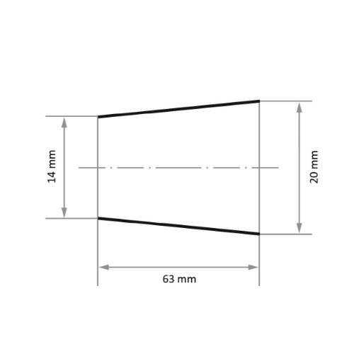 50 Stk | Schleifband SBKE 20x63 mm Korund Korn 150 Abb. Ähnlich
