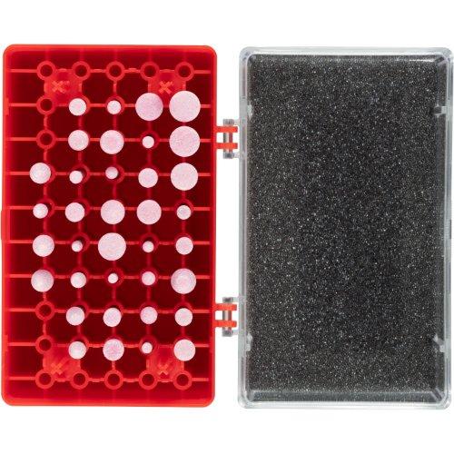 1 Stk | Schleifstift-Set 36-teilig für Stahl/Stahlguss Schaft 3 mm Edelkorund Produktbild