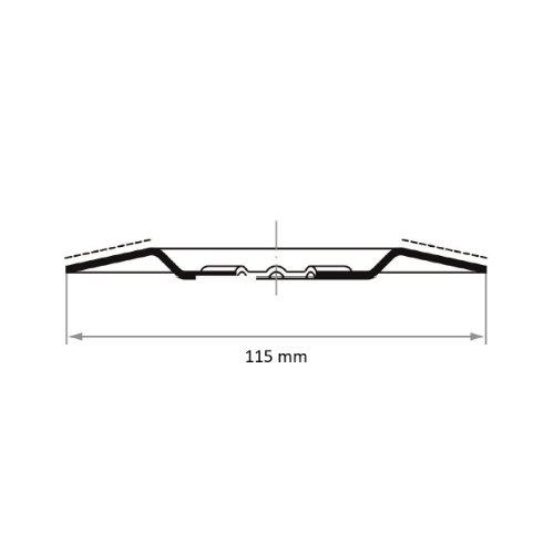 1 Stk | Hartmetall-Granulat-Teller HGWT Ø115 mm Korn 1,2-1,8 | schräg Abb. Ähnlich
