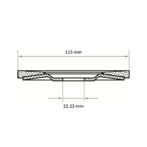 10 Stk | Fächerschleifscheibe V2 Power universal Ø 115 mm Zirkonkorund (mit schleifaktiver Deckbindung) Korn 60 | flach Abb. Ähnlich