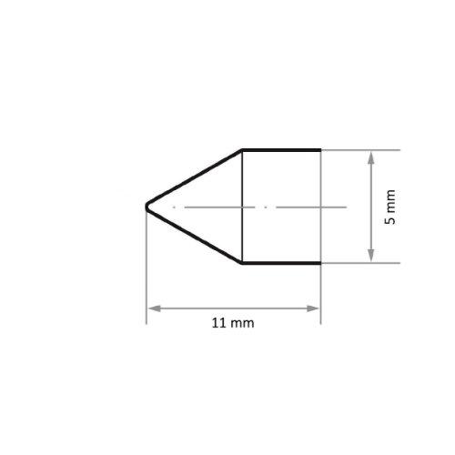 100 Stk | Schleifkappe SKWKS Walzenkegelform universal 5x11 mm Spezialkorund Korn 60 Abb. Ähnlich