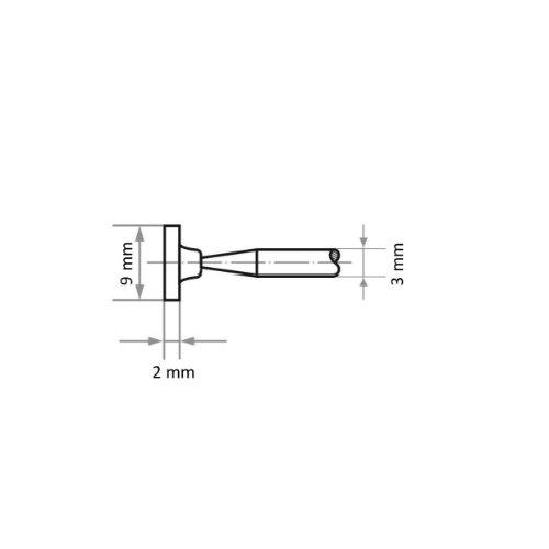 20 Stk | Schleifstift D1 Zylinderform für Stahl/Stahlguss 9x2 mm Schaft 3 mm | Edelkorund Korn 100 Abb. Ähnlich