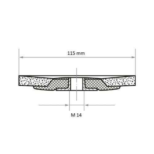 10 Stk | Fächerschleifscheibe SLTflex universal Ø 115 mm Zirkonkorund Korn 80 | flach Abb. Ähnlich