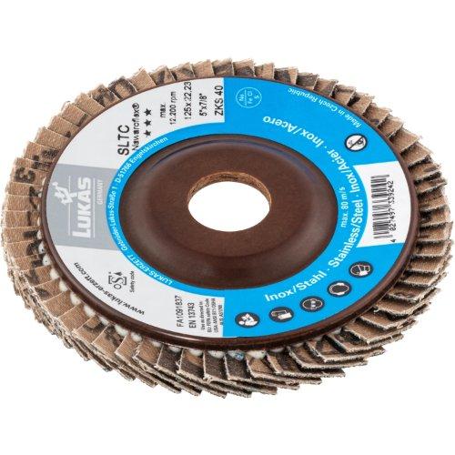 10 Stk | Fächerschleifscheibe SLTC universal Ø 115 mm Zirkonkorund (mit schleifaktiver Deckbindung) Korn 80 | schräg Produktbild