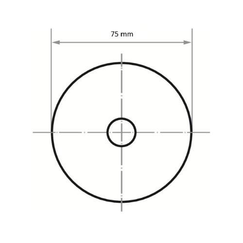 100 Stk | Schleifblätter PSH universal Ø 75 mm Korund Korn 180 Abb. Ähnlich
