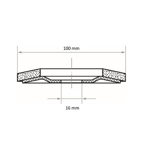 10 Stk | Fächerschleifscheibe SLTR universal Ø 100 mm Zirkonkorund Korn 40 | schräg Abb. Ähnlich
