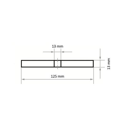 10 Stk | Reinigungsvlies ASVS universal 125x13 mm Bohrung 13mm Maßzeichnung