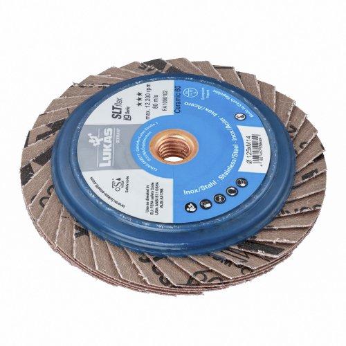 1 Stk | Fächerschleifscheibe SLTflex universal Ø 125 mm Ceramic Korn 60 flach Produktbild