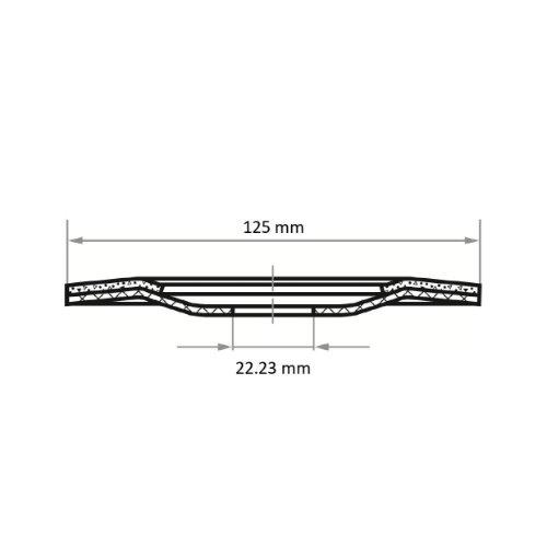 25 Stk | halbflex. Schruppscheibe SHF Ø 125 mm Siliciumcarbid Korn 36 | für Winkelschleifer Abb. Ähnlich