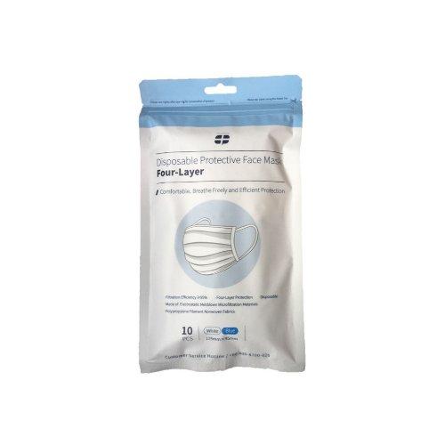 10 Stk. | Mundschutzmaske 4-lagig, Einmal Mund- Nasenschutz, blau Artikelhauptbild