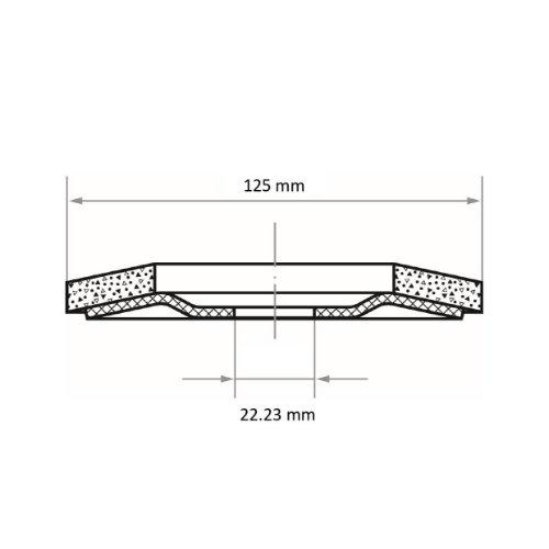 1 Stk | Fächerschleifscheibe SLTR universal Ø 125 mm Ceramic Korn 40 | schräg Abb. Ähnlich