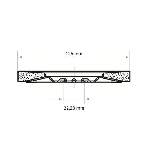 1 Stk | Fächerschleifscheibe SLTT universal Ø 125 mm Zirkonkorund (mit schleifaktiver Deckbindung) Korn 60 | flach Abb. Ähnlich