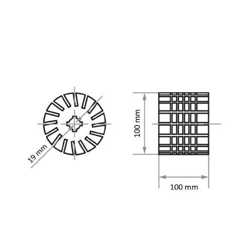 1 Stk | Werkzeugaufnahme STWS für Schleifhülsen 100x100 19 mm Abb. Ähnlich