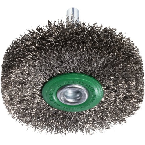 10 Stk | Schaftrund-Drahtbürste BSVW für Edelstahl 50x14 mm für Bohrmaschinen gewellt Produktbild