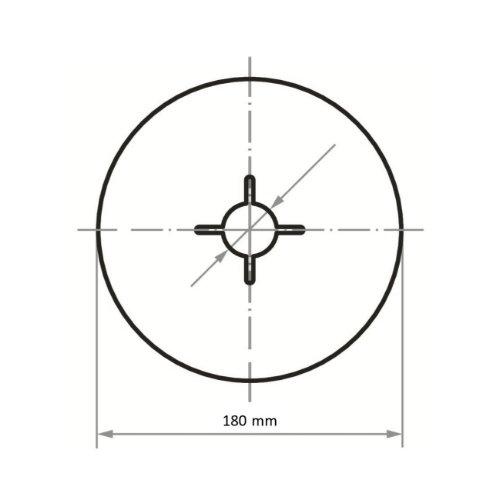 50 Stk | Fiberscheibe FIS universal Ø 180 mm Korund Korn 80 Abb. Ähnlich