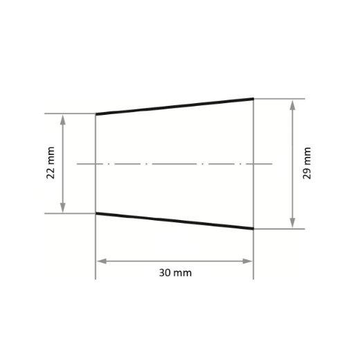 50 Stk   Schleifband SBKE 29x30 mm Korund Korn 50 Abb. Ähnlich