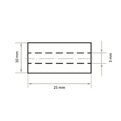 50 Stk   Schleifhülse SRZY 10x25 mm Korund Korn 80 Abb. Ähnlich