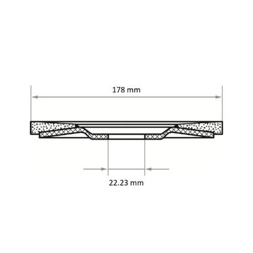 10 Stk | Fächerschleifscheibe V2 Power universal Ø 178 mm Zirkonkorund (mit schleifaktiver Deckbindung) Korn 60 | flach Abb. Ähnlich