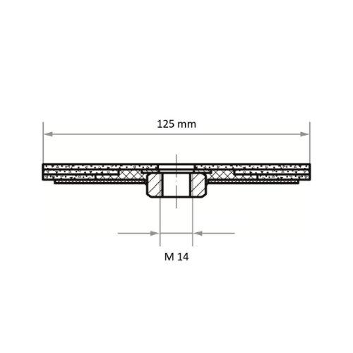 1 Stk | Kompaktschleifteller PURPLE GRAIN Multi universal Ø 125 mm Ceramic Korn 36 Abb. Ähnlich