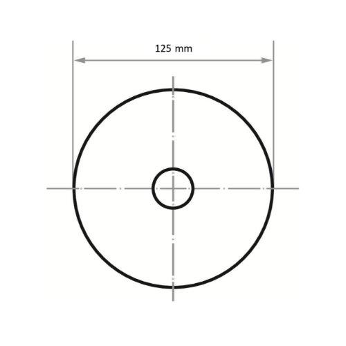 100 Stk | Schleifblätter PSH universal Ø 125 mm Korund Korn 80 Abb. Ähnlich
