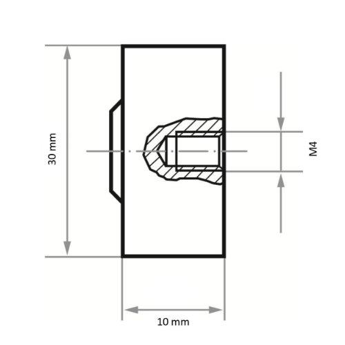 10 Stk   Fächerschleifer mit M6 Innengew. SFI universal 30x10 mm   Korund Korn 150 Abb. Ähnlich