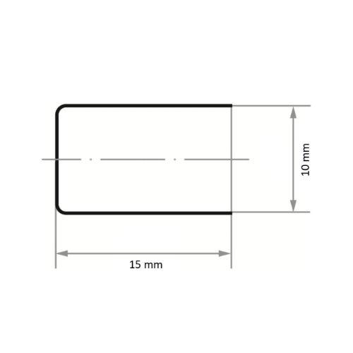 100 Stk | Schleifkappe SKZY Zylinderform universal 10x15 mm Ceramic Korn 150 Abb. Ähnlich