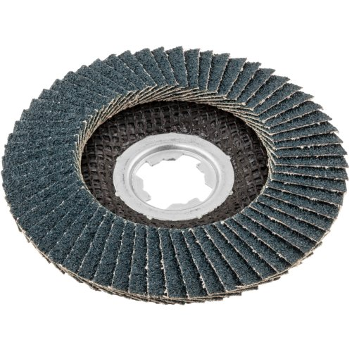 10 Stk | Fächerschleifscheibe SLTR Ø 125 mm Zirkonkorund Korn 80 | für X-Lock Winkelschleifer | schräg Produktbild