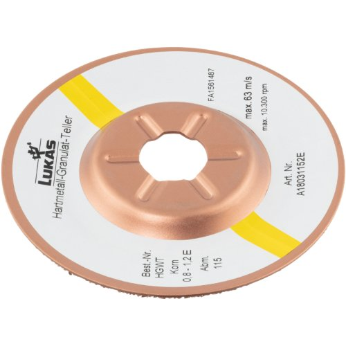1 Stk | Hartmetall-Granulat-Teller HGWT Ø115 mm Korn 0,8 – 1,2 | schräg Produktbild