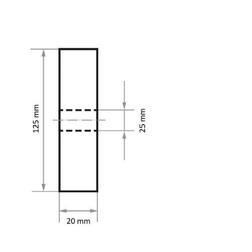 1 Stk   Polierscheibe P6SE1 universal Medium 125x20 mm Bohrung 25 mm Siliciumcarbid Korn 80 Abb. Ähnlich