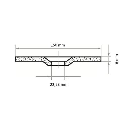 10 Stk   Schruppscheibe T27 für Edelstahl 150x6 mm gekröpft   für Winkelschleifer   A24/30S-BF Abb. Ähnlich