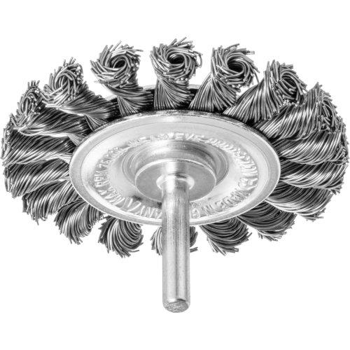 10 Stk   Schaftrund-Drahtbürste BSSZ universal 75x8 mm für Bohrmaschinen gezopft Produktbild
