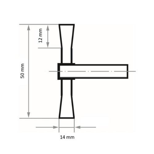 10 Stk | Schaftrund-Drahtbürste BSVW für Edelstahl 50x14 mm für Bohrmaschinen gewellt Abb. Ähnlich