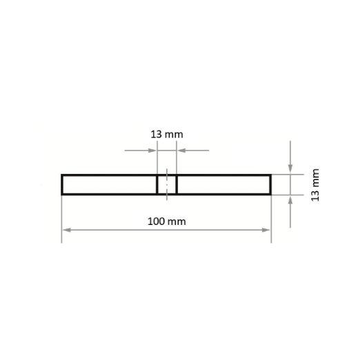 10 Stk   Reinigungsvlies ASVS universal 100x13 mm Bohrung 13mm Maßzeichnung