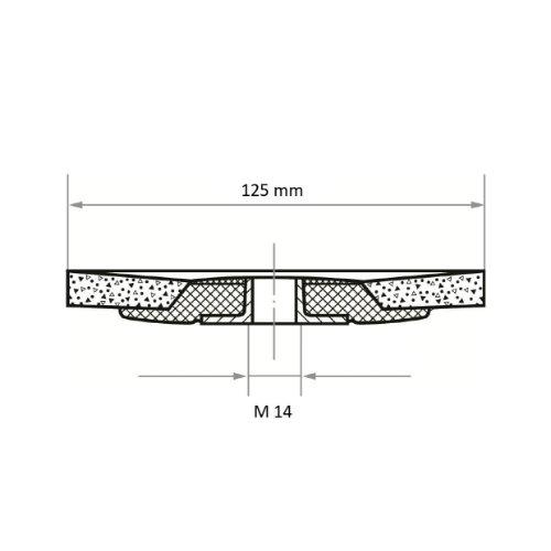 10 Stk | Fächerschleifscheibe SLTflex universal Ø 125 mm Spezial-Zirkonkorund Korn 60 | flach Abb. Ähnlich