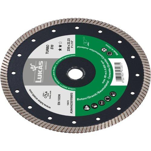 1 Stk | Diamanttrennscheibe TURBO S10 für Beton/ Baumaterial Ø 230 mm für Winkelschleifer Produktbild