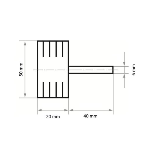 10 Stk   Fächerschleifer SFB universal 50x20 mm Schaft 6 mm Korund Korn 80 Abb. Ähnlich