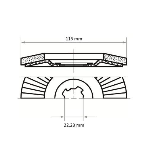 10 Stk | Fächerschleifscheibe SLTR Ø 125 mm Zirkonkorund Korn 80 | für X-Lock Winkelschleifer | schräg Abb. Ähnlich